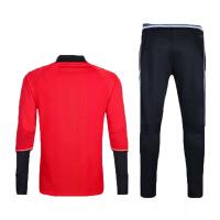 足球服长袖长裤训练套装欧冠俱乐部足球训练服秋冬比赛球服 红色