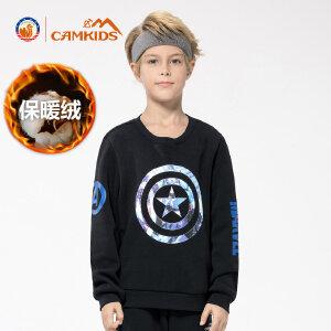 CAMKIDS男童长袖T恤中大童卫衣儿童秋装新款男孩圆领套头衫