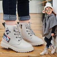 儿童短靴加绒马丁靴秋冬单靴英伦风童鞋女童靴子男童鞋时装靴