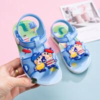 夏季宝宝凉鞋0-1-2岁男女童防滑软底婴儿学步鞋小儿童小童沙滩鞋