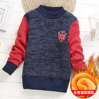 童�b男童毛衣加�q套�^秋冬中大童打底衫�A�I�和�毛衫