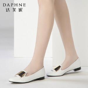 Daphne/达芙妮圆漾春款时尚亮片圆头低跟浅口单鞋女