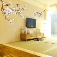 宜美贴 弥月之樱 客厅卧室沙发电视墙婚房装饰浪漫樱花墙贴