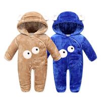 【12月09日限时秒杀49元】婴儿连体衣加厚宝宝棉服外套新生儿哈衣外出服爬服