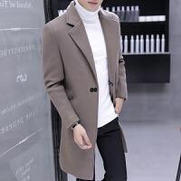 秋冬季毛呢大衣男中长款修身韩版帅气呢子风衣青年休闲妮子外套