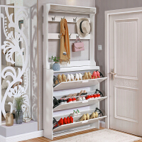 门口翻斗鞋柜超薄简约现代简易门厅柜组装家用经济型多功能省空间 组装