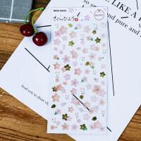 可撕DIY相册日记装饰贴纸标签日系文艺创意和纸樱花手帐贴纸 抖音