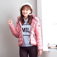 美特斯邦威女冬季连帽纳米绒棉服外套237917