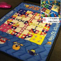 春夏小号全棉儿童地垫宝宝爬爬垫婴儿地毯机洗卧室加厚客厅爬行垫SN7669 浅