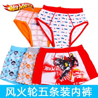 风火轮专柜正品三角平角短裤男童宝宝童装纯棉5条装风火轮内裤