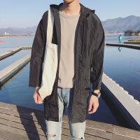男士新款防晒衣夏季连帽青少年韩版潮流中长款轻薄透气皮肤衣运动衫