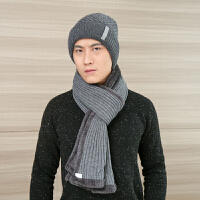 中老年男帽冬季护耳毛线帽加绒加厚羊毛针织老人毛线帽男士保暖帽