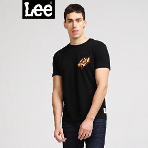 Lee男装 18春装新品商场同款笑脸圆领印花短袖T恤L302712YVK11 L302712YV6ZQ
