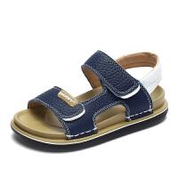 史努比童鞋夏季新品男童皮凉鞋露趾透气儿童沙滩凉鞋