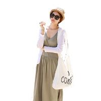 慈颜CIYAN时尚孕妇装夏装过膝长裙+长袖外套 套装孕妇连衣裙拖地WML7708