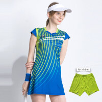 20180829094152439羽毛球服套装女网球运动连衣裙显瘦修身透气