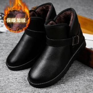 冬季雪地靴男士短靴棉靴韩版男鞋子高帮鞋防水加绒保暖棉鞋男靴子