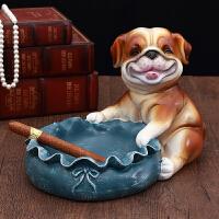 欧式家居酒柜鞋柜装饰摆件钥匙收纳家庭创意招财狗动物摆设工艺品