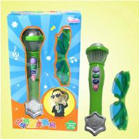 宝丽儿童玩具炫音乐卡拉OK麦克风/带墨镜 话筒扩音器0.3
