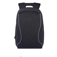 男士双肩包电脑包商务出差旅行包大高中学生书包背包o 【中号】黑灰色