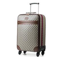 商务拉杆箱男行李箱万向轮24寸皮箱女旅行箱登机箱16寸hy GD纹-咖啡色 16寸(可登机)