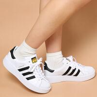 【网易考拉】adidas 阿迪达斯 SUPERSTAR系列 经典三叶草女士休闲板鞋 亮白