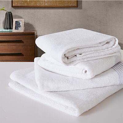 当当优品家纺毛巾 纯棉抗菌防臭吸水面巾 35x80 白色