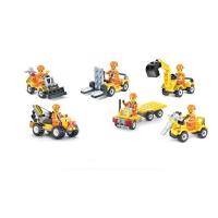 拼插积木城市施工程车队系列儿童益智玩具