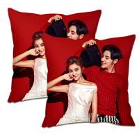 自制结婚抱枕定制作来图定做印两面私人照片情侣一对枕头生日礼物