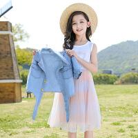 女童连衣裙夏装中大童儿童蓬蓬纱裙子套装公主裙