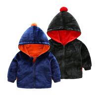 2018050602291女宝宝衣服秋季1岁3个月女童新生儿加厚连帽外套秋冬装婴儿外出服