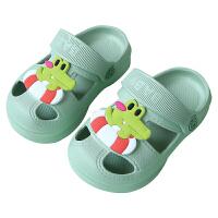 宝宝拖鞋夏男1-2岁室内软底防滑儿童沙滩洞洞鞋婴幼儿女童凉拖鞋