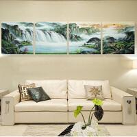 无框画装饰画客厅沙发背景山水风景中式挂画三联画办公室墙画壁画
