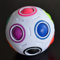 彩虹球异形魔方足球魔方二三四五阶魔方玩具顺滑2345阶魔方