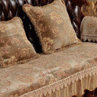 欧美式皮沙发垫坐垫座套雪尼尔大提花夏季凉加厚防滑坐垫靠背巾罩