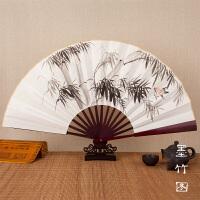 九寸十寸国画手绘可题字宣纸牡丹梅兰竹菊手绘画折扇