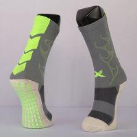 新款运动球袜男款防滑神袜加厚毛巾底袜 短筒磨擦条足球装备训练薄款中筒袜 I 款