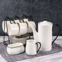 生日礼物陶瓷创意咖啡杯套装下午茶套具简约手描家用办公室北欧杯具父亲节送女友送男友送朋友送女友