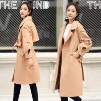 毛呢外套女中长款秋冬新款韩版修身显瘦过膝冬季韩国妮子大衣