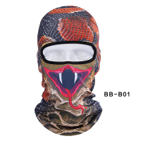 动物骑行头套帽男面罩全脸女防风防尘钓鱼装备护脸游泳防晒脸基尼 BB-B01 蛇