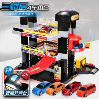 男童2-3-5岁小汽车停车场玩具套装小孩宝宝儿童玩具男孩4岁轨道车