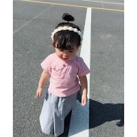 夏装儿童女童民国风套装汉服宝宝唐装复古民族短袖旗袍长裙两件套