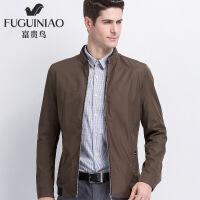 /男士外套新款中年立领夹克休闲外衣秋季男装茄克衫