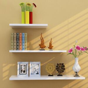 书架 家用创意一字隔板置物层板架隔板装饰架加宽加厚收纳架墙上储物壁架卧室墙上整理架子家具用品