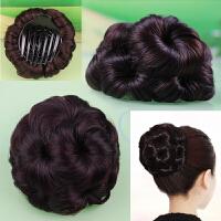 假发女新品时尚九朵花包头夹子仿真高温丝自然逼真饰品盘发器造型