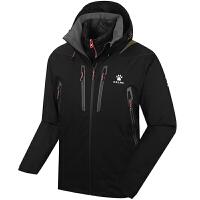 KELME卡尔美 K46C1009 男式三合一滑雪服 防风防水保暖外套 羽绒内胆户外运动外套