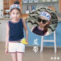韩国儿童运动发带女童男童街舞弹力发带时尚走秀头套女嘻哈头饰潮