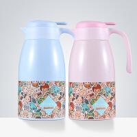 特美刻家居保温壶时尚可爱热水瓶不锈钢内胆保温瓶太阳鸭卡通暖壶