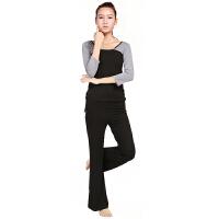 秋冬新款 长袖瑜伽服套装 正反两穿女士瑜珈服愈加健身服