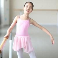 儿童舞蹈服女童体操服吊带练功服芭蕾舞服连体服形体服